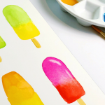 Popsicle Watercoloring